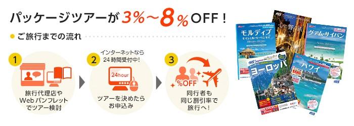 海外オリコパッケージツアー割引サービスで最大8%OFF!