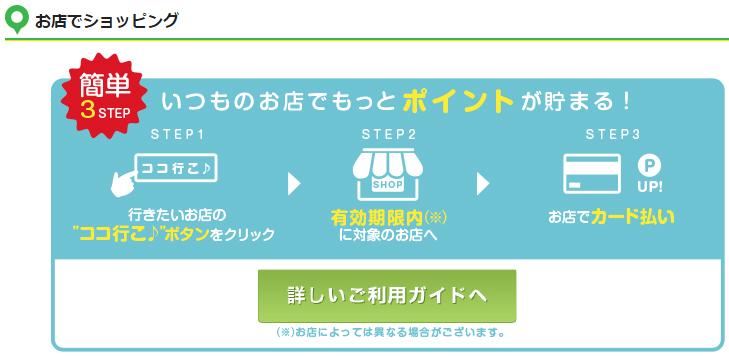 三井住友VISAクラシックカード お店でショッピング