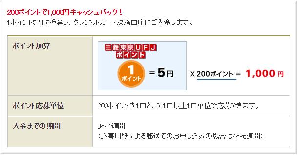 三菱東京UFJ-VISAカード