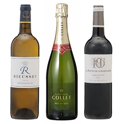 2017年度機内ワイン 赤・白・泡3本セット