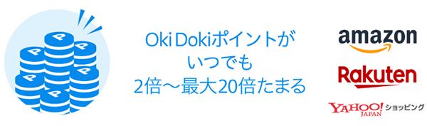 Oki Dokiランドを経由するとJCBポイントが多く貯まる