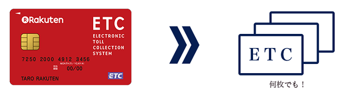 楽天ETCカードを複数枚発行可能
