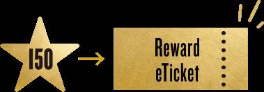 Reward eTicketが1枚発行