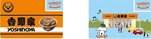 吉野屋WAONカードは2種類
